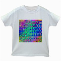 Background Texture Pattern Colorful Kids White T-Shirts