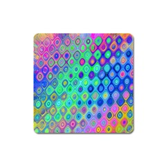 Background Texture Pattern Colorful Square Magnet