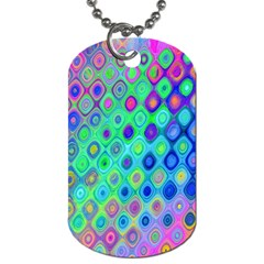 Background Texture Pattern Colorful Dog Tag (One Side)