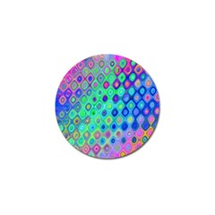 Background Texture Pattern Colorful Golf Ball Marker