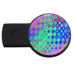 Background Texture Pattern Colorful Usb Flash Drive Round (2 Gb)