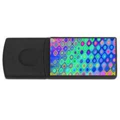 Background Texture Pattern Colorful USB Flash Drive Rectangular (2 GB)