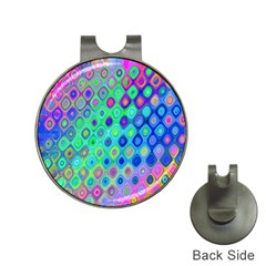 Background Texture Pattern Colorful Hat Clips with Golf Markers
