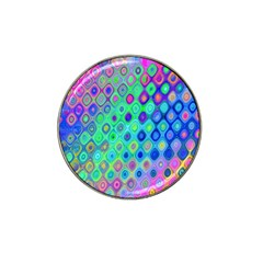 Background Texture Pattern Colorful Hat Clip Ball Marker (4 Pack)