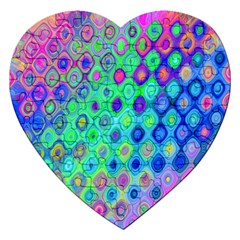 Background Texture Pattern Colorful Jigsaw Puzzle (heart)