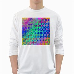 Background Texture Pattern Colorful White Long Sleeve T-Shirts