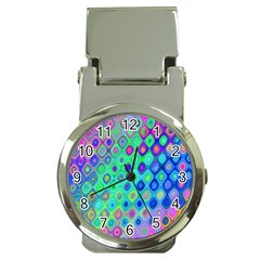Background Texture Pattern Colorful Money Clip Watches