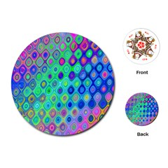 Background Texture Pattern Colorful Playing Cards (Round)