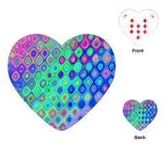 Background Texture Pattern Colorful Playing Cards (Heart)
