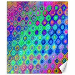 Background Texture Pattern Colorful Canvas 8  x 10