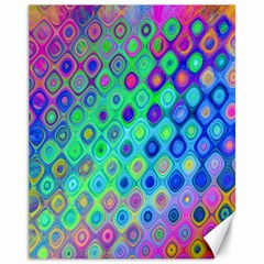 Background Texture Pattern Colorful Canvas 11  x 14
