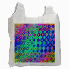 Background Texture Pattern Colorful Recycle Bag (one Side)