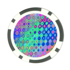 Background Texture Pattern Colorful Poker Chip Card Guard (10 pack)