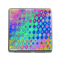 Background Texture Pattern Colorful Memory Card Reader (square)