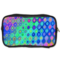 Background Texture Pattern Colorful Toiletries Bags 2 Side
