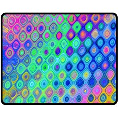 Background Texture Pattern Colorful Fleece Blanket (Medium)