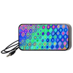 Background Texture Pattern Colorful Portable Speaker (Black)