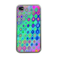 Background Texture Pattern Colorful Apple iPhone 4 Case (Clear)