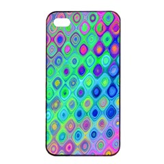 Background Texture Pattern Colorful Apple iPhone 4/4s Seamless Case (Black)