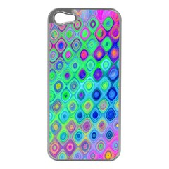 Background Texture Pattern Colorful Apple Iphone 5 Case (silver)