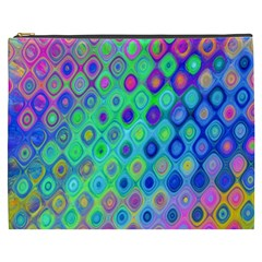 Background Texture Pattern Colorful Cosmetic Bag (XXXL)
