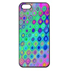 Background Texture Pattern Colorful Apple iPhone 5 Seamless Case (Black)