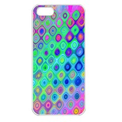 Background Texture Pattern Colorful Apple iPhone 5 Seamless Case (White)