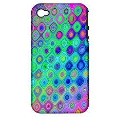 Background Texture Pattern Colorful Apple iPhone 4/4S Hardshell Case (PC+Silicone)