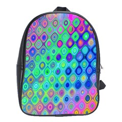 Background Texture Pattern Colorful School Bags (XL)