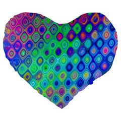 Background Texture Pattern Colorful Large 19  Premium Heart Shape Cushions