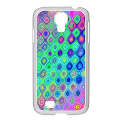 Background Texture Pattern Colorful Samsung GALAXY S4 I9500/ I9505 Case (White)