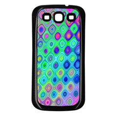 Background Texture Pattern Colorful Samsung Galaxy S3 Back Case (Black)