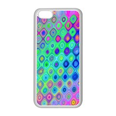 Background Texture Pattern Colorful Apple iPhone 5C Seamless Case (White)