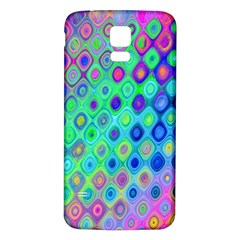 Background Texture Pattern Colorful Samsung Galaxy S5 Back Case (White)