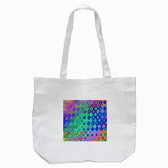 Background Texture Pattern Colorful Tote Bag (White)