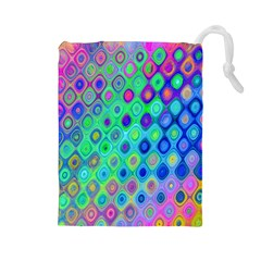 Background Texture Pattern Colorful Drawstring Pouches (large)