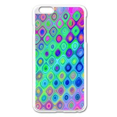 Background Texture Pattern Colorful Apple iPhone 6 Plus/6S Plus Enamel White Case