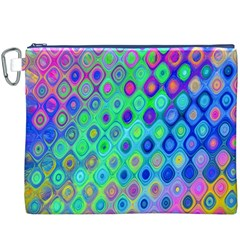Background Texture Pattern Colorful Canvas Cosmetic Bag (XXXL)