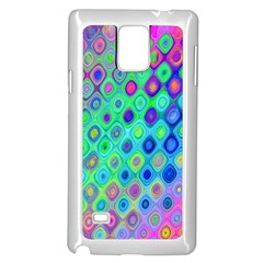 Background Texture Pattern Colorful Samsung Galaxy Note 4 Case (white)