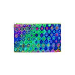 Background Texture Pattern Colorful Cosmetic Bag (XS)