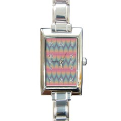 Pattern Background Texture Colorful Rectangle Italian Charm Watch