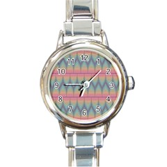Pattern Background Texture Colorful Round Italian Charm Watch