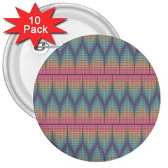Pattern Background Texture Colorful 3  Buttons (10 pack)
