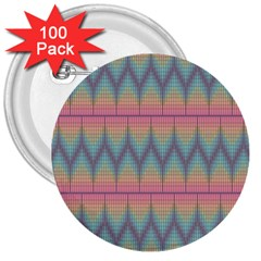 Pattern Background Texture Colorful 3  Buttons (100 Pack)