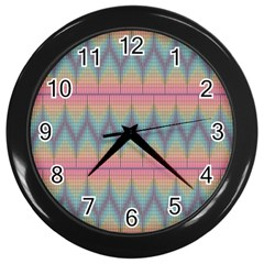 Pattern Background Texture Colorful Wall Clocks (Black)