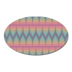 Pattern Background Texture Colorful Oval Magnet
