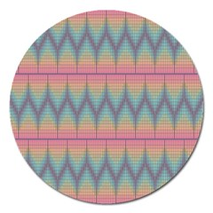 Pattern Background Texture Colorful Magnet 5  (round)