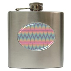 Pattern Background Texture Colorful Hip Flask (6 oz)