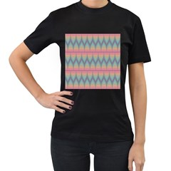 Pattern Background Texture Colorful Women s T Shirt (black) (two Sided)