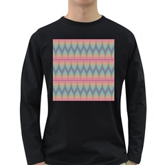 Pattern Background Texture Colorful Long Sleeve Dark T-Shirts